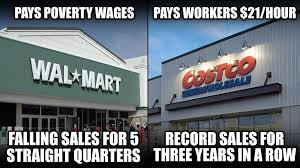 COSTCO V WALMART WAGES